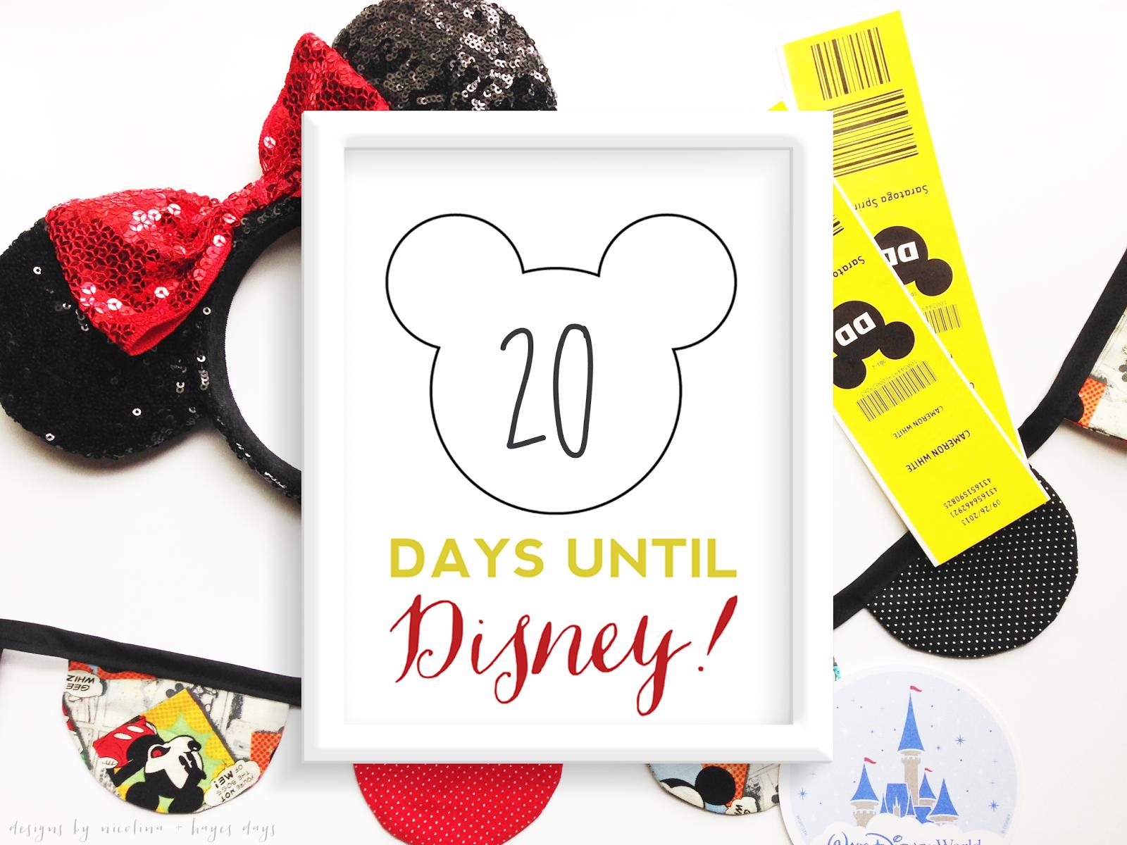 FREE Disney Countdown Printable :: designsbynicolina.blogspot.com