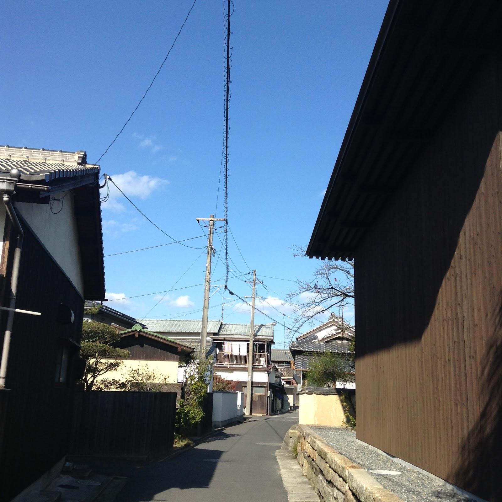Japanese street Naoshima Seto Inland sea