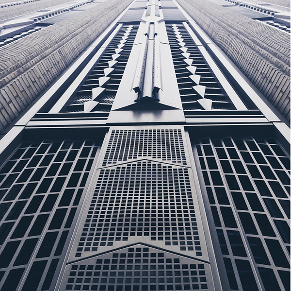 Architectural details, art deco building
