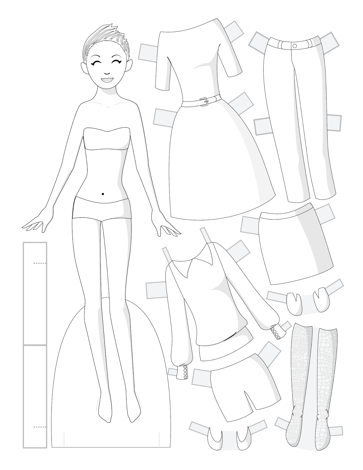 Paper Doll School: Fashion Friday: Black & White: Set 2