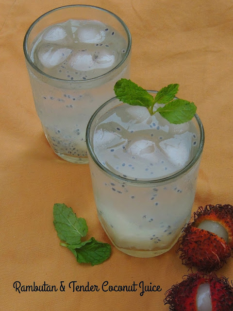 rambutan & tender coconut juice