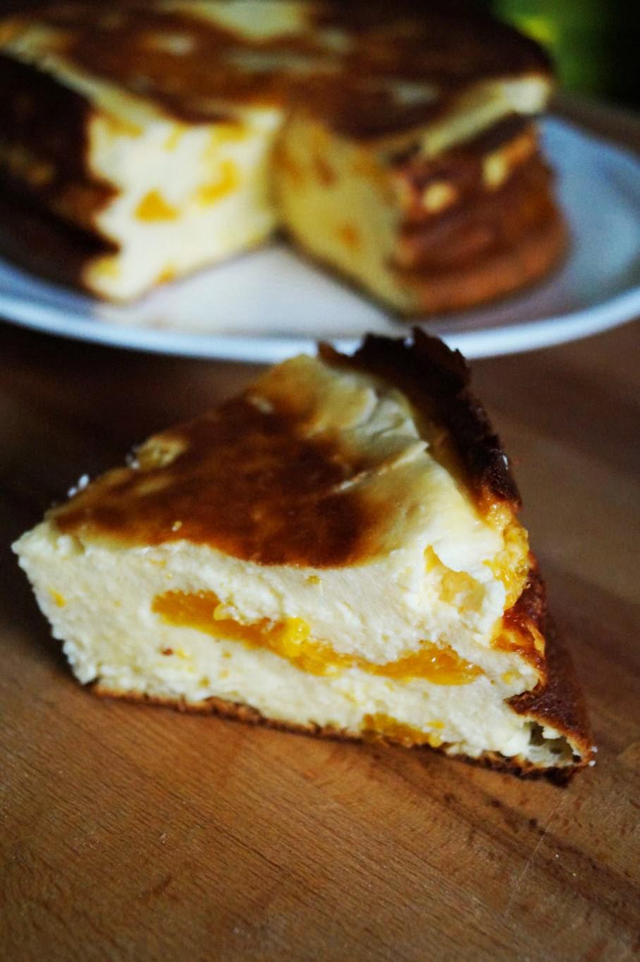 Einfacher käsekuchen mit mandarinen