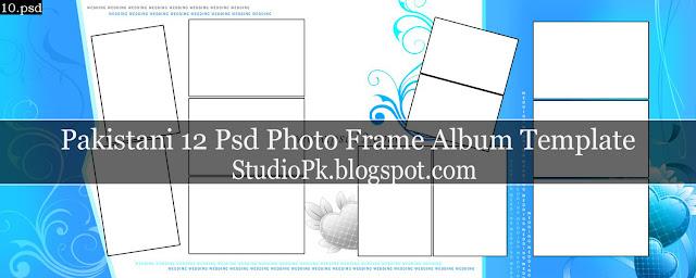 Pakistani 12 Psd Photo Frame Album