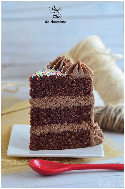 Layer cake de chocolate