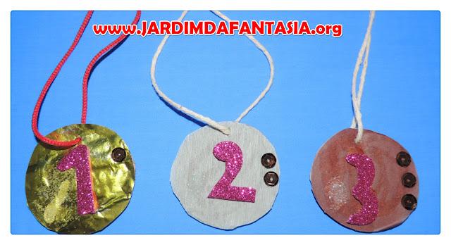 Medalhas Olímpicas feitas com material reciclável