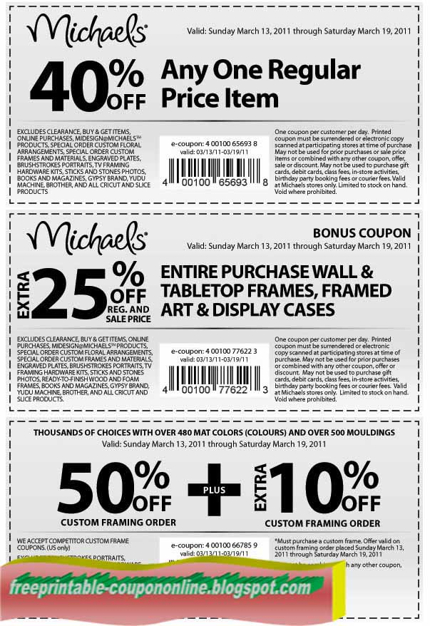 Choose A Preferred Store Select To See Coupons For Your Area FIND COUPONS Michaels