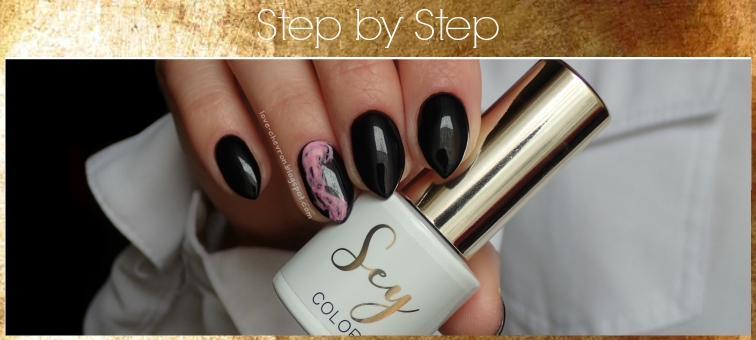 Smoky nail art | smoke effect | Cosmetics Zone | Sey | s081 Black Night | s001 Pure White | Extreme Base | Classic Top | tutorial paznokciowy | step by step nails | manicure hybrydowy krok po kroku |