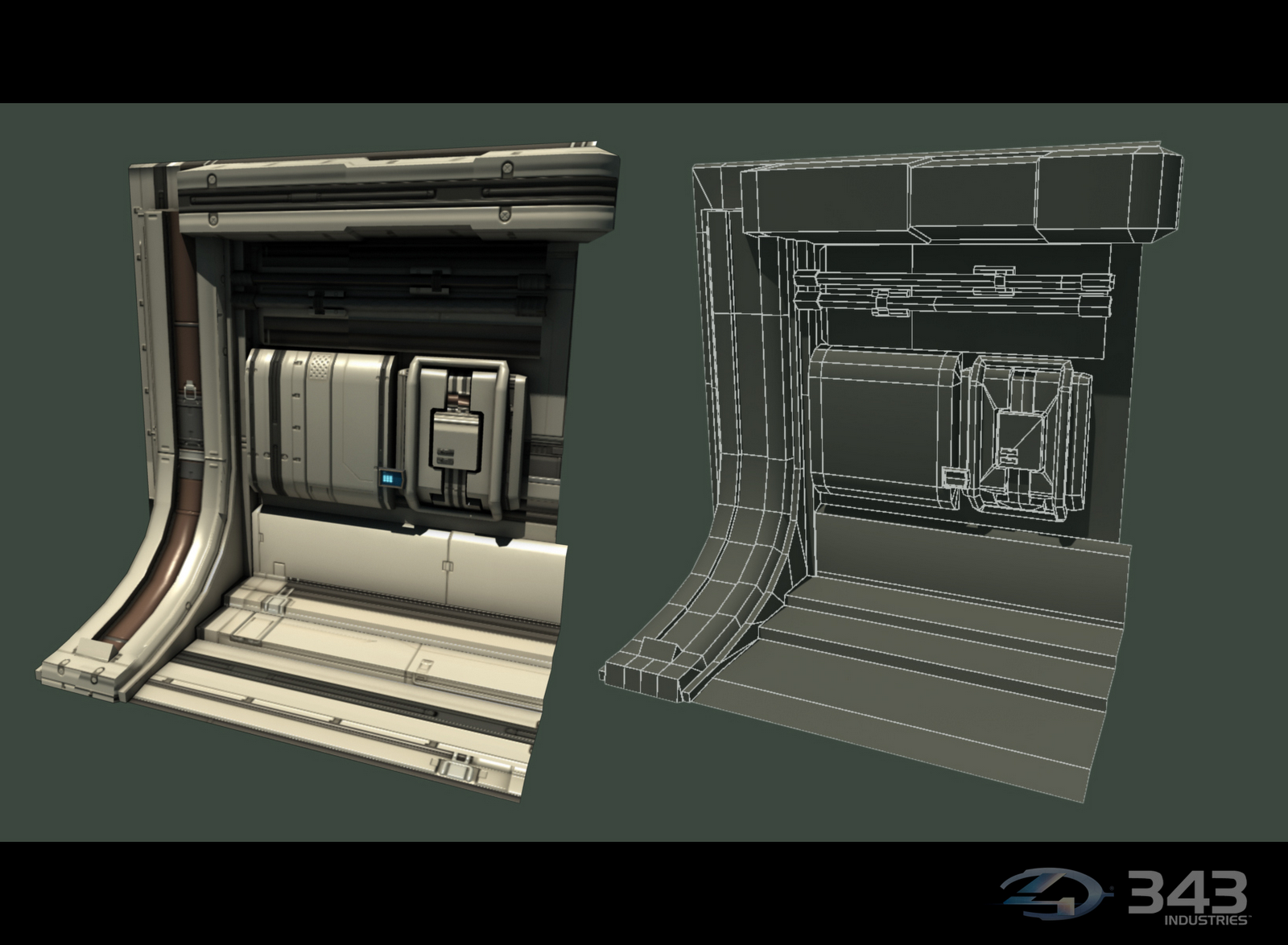 Fr33d Halo 4 Renders Hard Surface Props