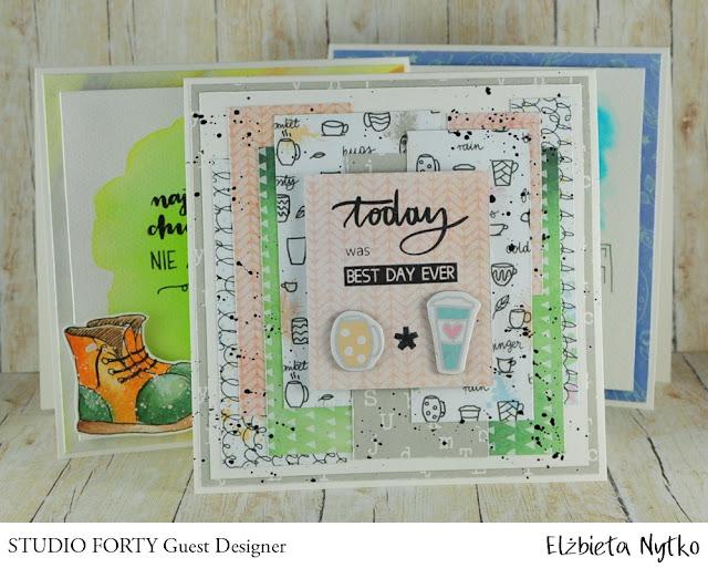 Kartki na powitanie – inspiracja dla Studio Forty