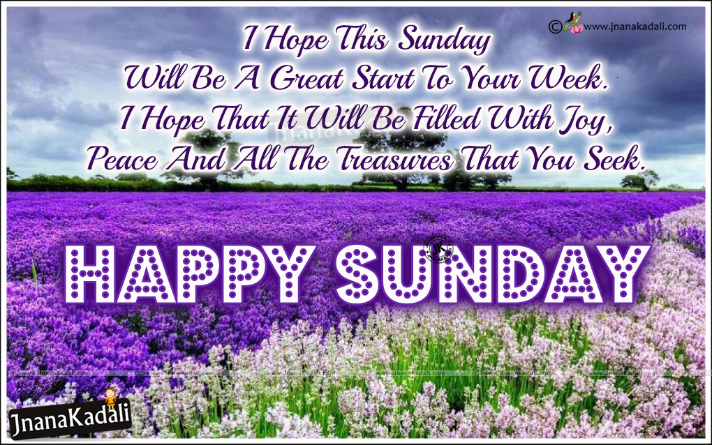 Happy Sunday Quotations Messages In English-Inspirational