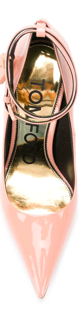 Tom Ford Padlock Pumps in Pink Calf Leather