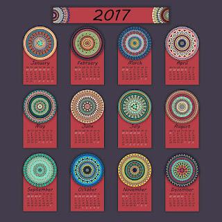 2017カレンダー無料テンプレート103