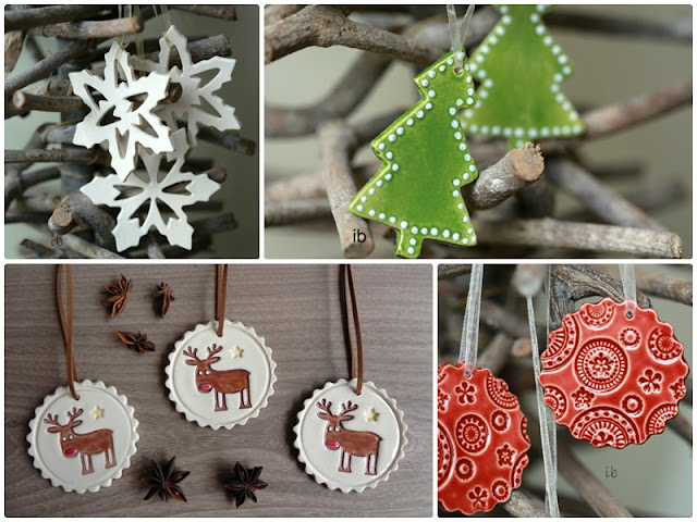 Ceramic Christmas ornaments handcrafted by Ceraminic on Etsy