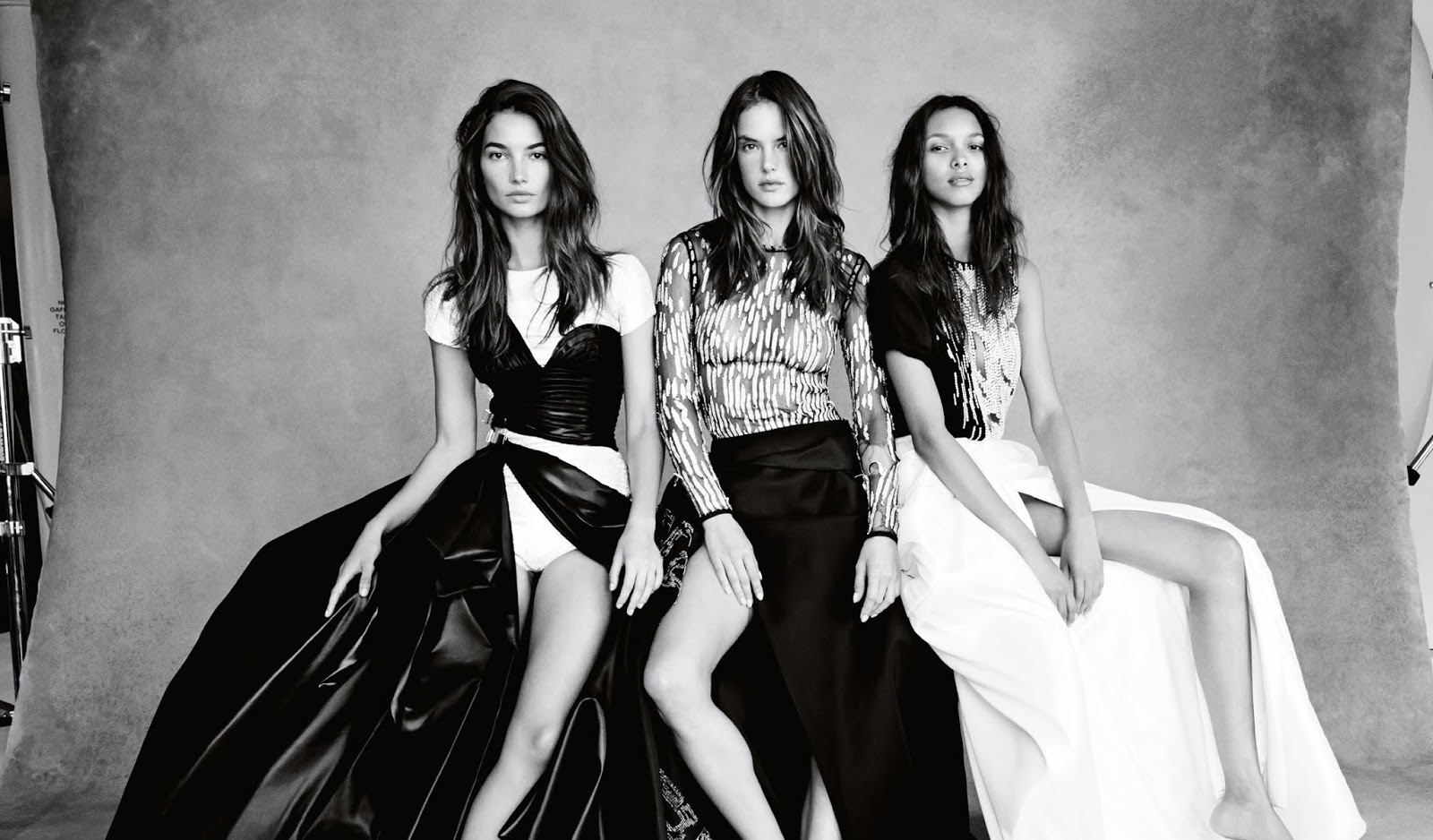 close to heaven: adriana lima, lais ribeiro, candice swanepoel, elsa hosk, alessandra ambrosio and lily aldridge by patrick demarchelier for uk vogue november 2014