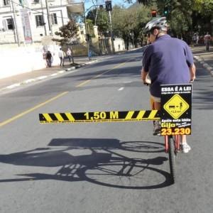 Abstand Auto Fahrrad