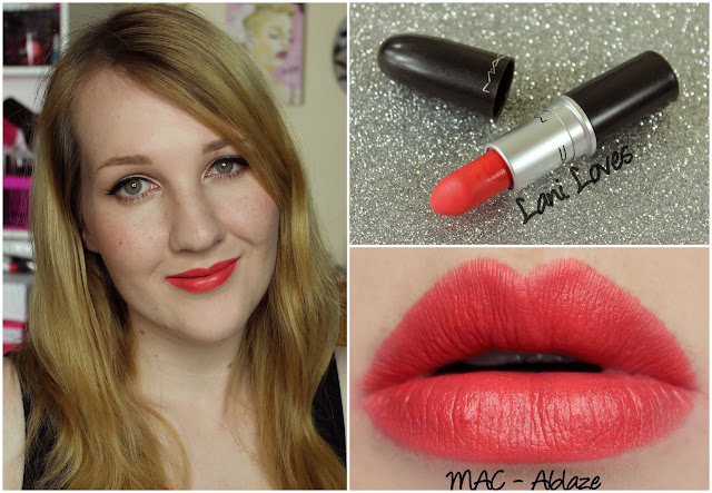 MAC Ablaze Lipstick swatch