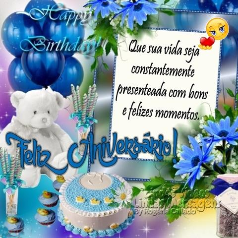 Feliz Aniversário! Que sua vida seja constantemente presenteada com bons e felizes momentos.