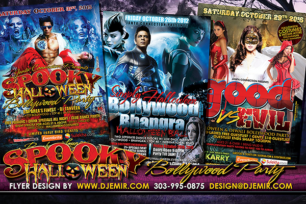 Good Versus Evil Spooky Bollywood Halloween Flyer design