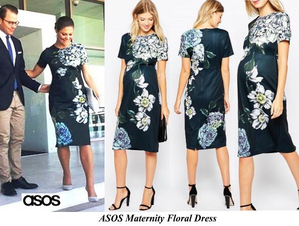 Princess Victoria's ASOS Maternity Floral Dress