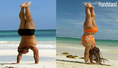 handstand position
