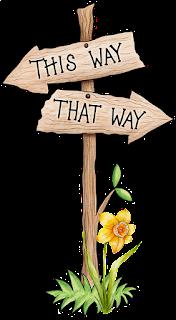 imagem-de-placas-de-madeira-com-duas-setas-indicando-caminhos-opostos