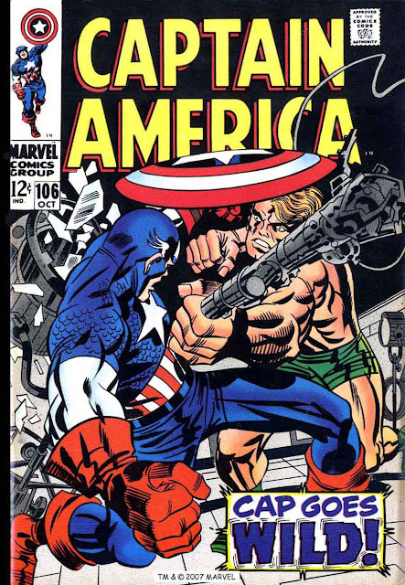 Captain America v1 #106 marvel comic book cover art by Jack Kirby