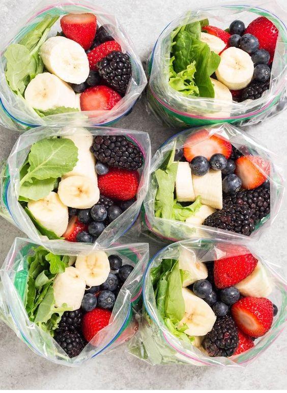 Banana Berry Smoothie Meal Prep Recipe
