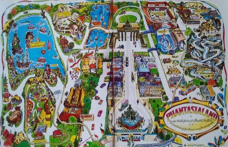 Phantasialand Park Karte.Phantasialand Mal Historisch Alte Pläne Https Www Anderswohin De