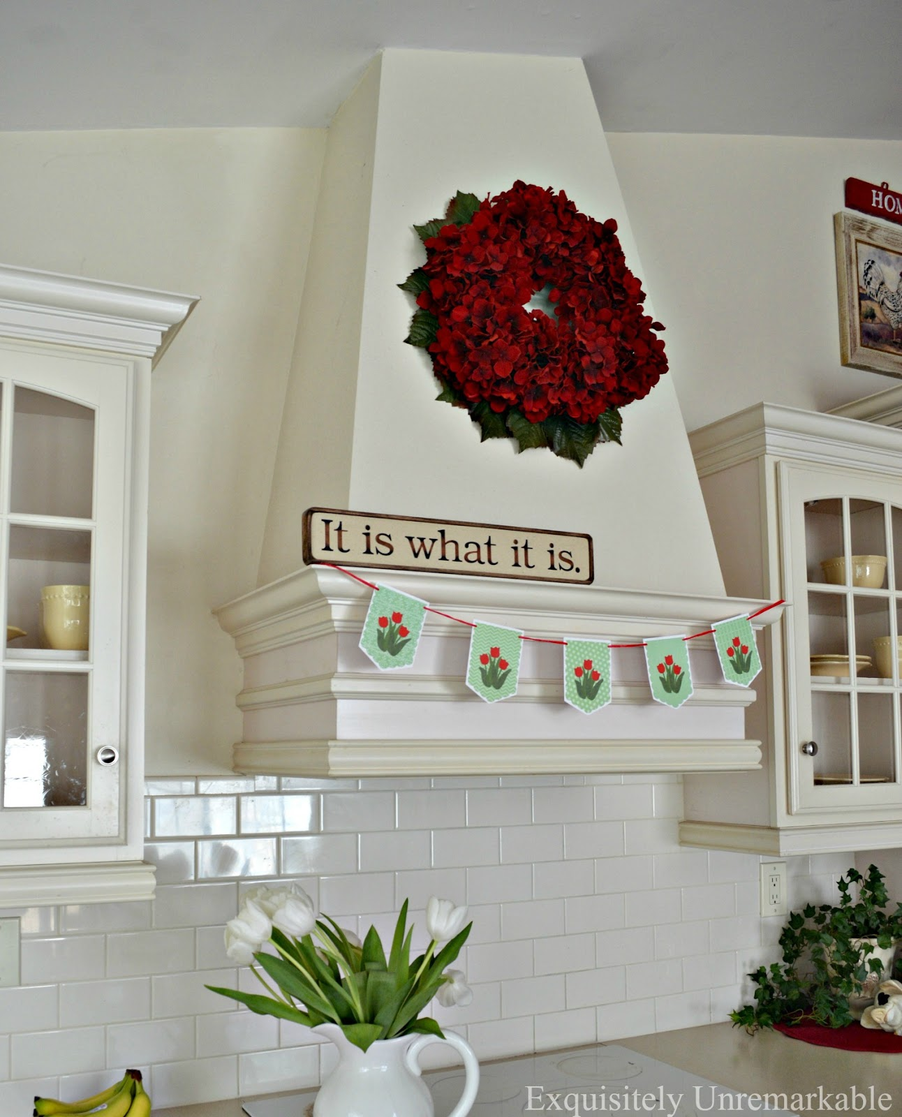 Custom Kitchen Tulip Banner