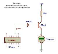Skema rangkaian pengukur sinyal radio pemancar fm