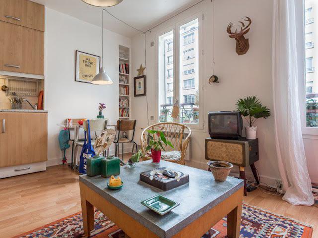 un appartement boh me de 30m2 vincennes blog d co mydecolab. Black Bedroom Furniture Sets. Home Design Ideas