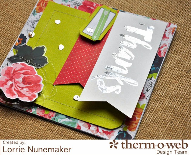 Lorrie S Story Thermoweb Deco Foil Thank You Cards