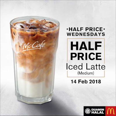 McCafé Iced Latte Half Price Wednesdays Discount Promo