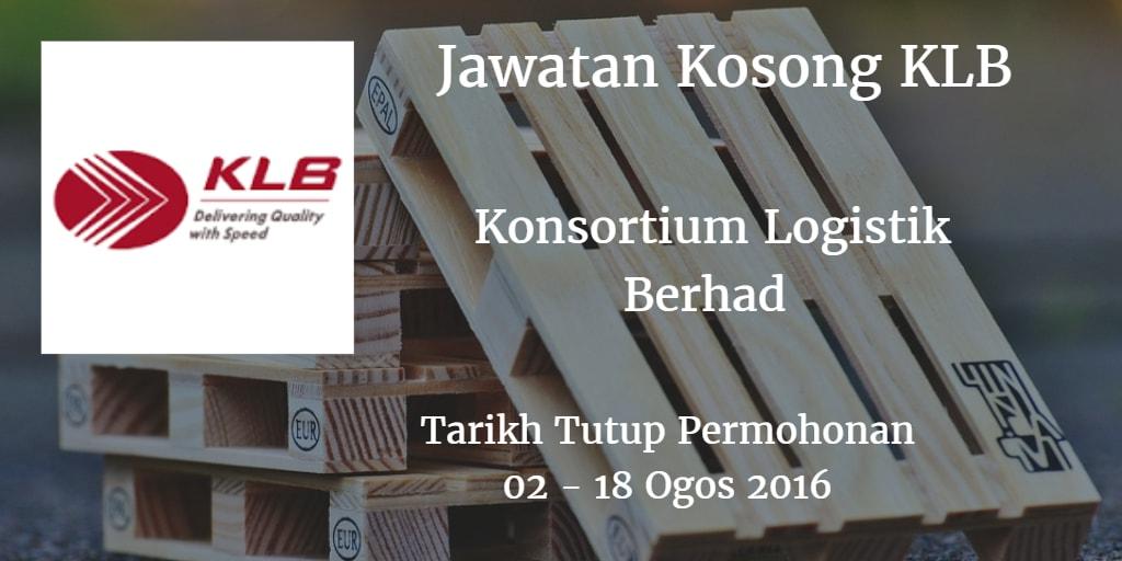 Jawatan Kosong KLB 02 - 18 Ogos 2016