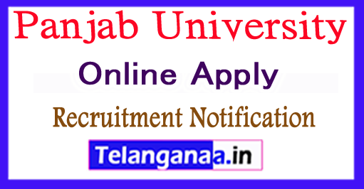 Panjab University Recruitment Notification 2017 Apply