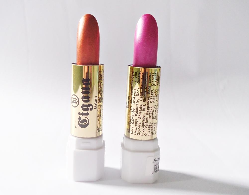 Batons metálicos Cigana Cosméticos: Cor 113 e 37