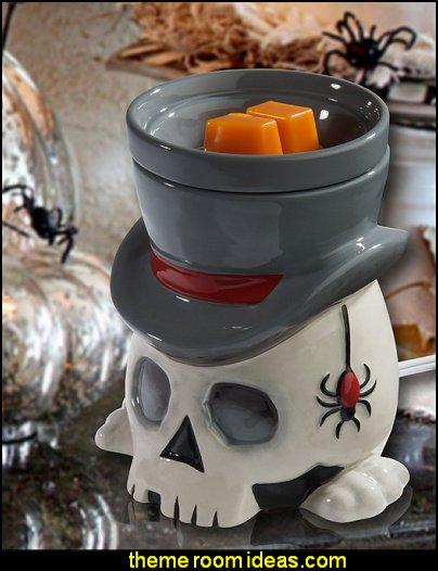 Undertaker Horror Style Wax Warmer  Halloween decorations - Halloween decorating props - Halloween theme - Halloween decorating ideas - Halloween decor - wall murals halloween haunted mansion - lifesize standing halloween figures - halloween bedding -