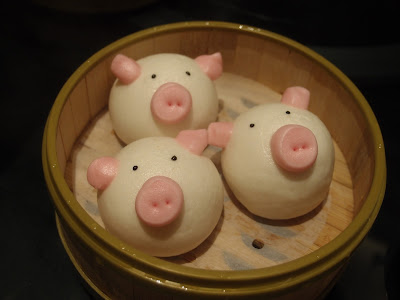 Steamed Custard Bun in Piggy Shape