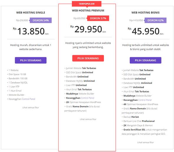 web hosting indonesia terbaik termurah