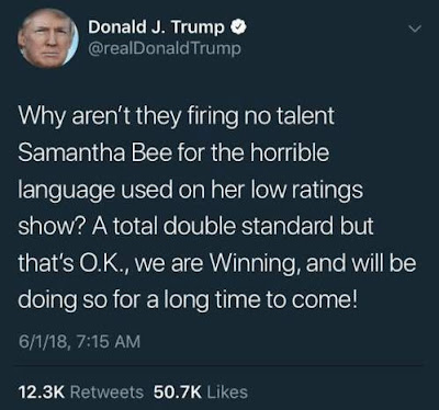 Trump Tweet - Samantha Bee