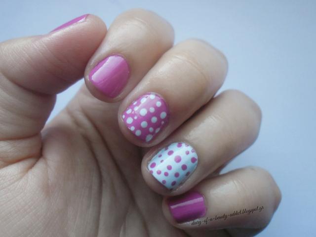 polka dots pink pastel blue