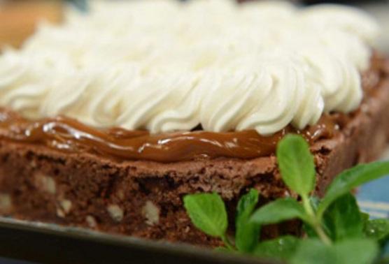 Torta brownie con dulce de leche