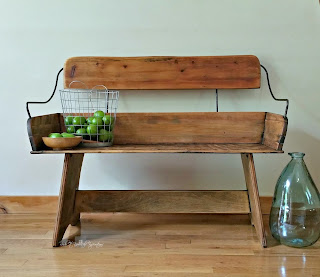 horse carriage bench turned into bench