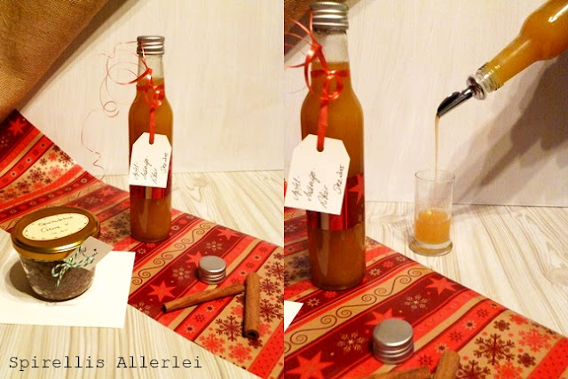 selbst gemachter Apfel-Mango-Likör