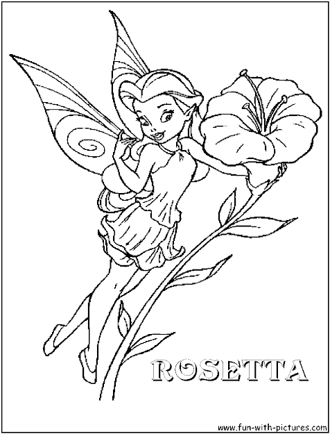 Disney Fairy Rosetta Coloring Page  Disneyfairies