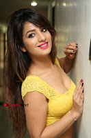 Cute Telugu Actress Shunaya Solanki High Definition Spicy Pos in Yellow Top and Skirt  0077.JPG