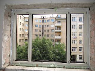 Деревоалюминиевое окно из сосны