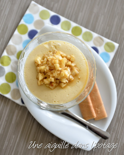 Crème au jus de pommes et sa brunoise de Granny Smith
