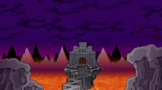 Bowser's Castle Super Paper Mario lava