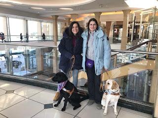 Esther, journey, leía y yo en el centro comercial
